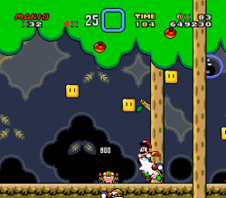 SMW Screenshot Wald der Illusion 3