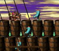 DKC2 Screenshot Schiff Ahoi