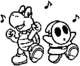 Koopa and Shy Guy stamp MK8