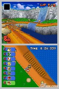MKDS Screenshot Yoshi-Kaskaden