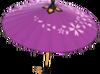 MKT Parasol en papier violet