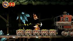 DKCR Screenshot 4-B Maulwurfzug (Nach 1 Treffer)