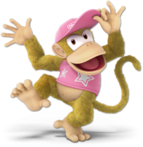 Art Diddy Kong rose Ultimate