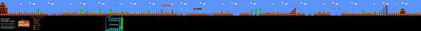SMB World 8-1 NES level map