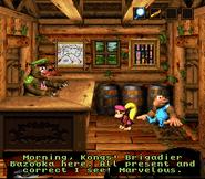 DKC3 Screenshot Bazookas Baracke