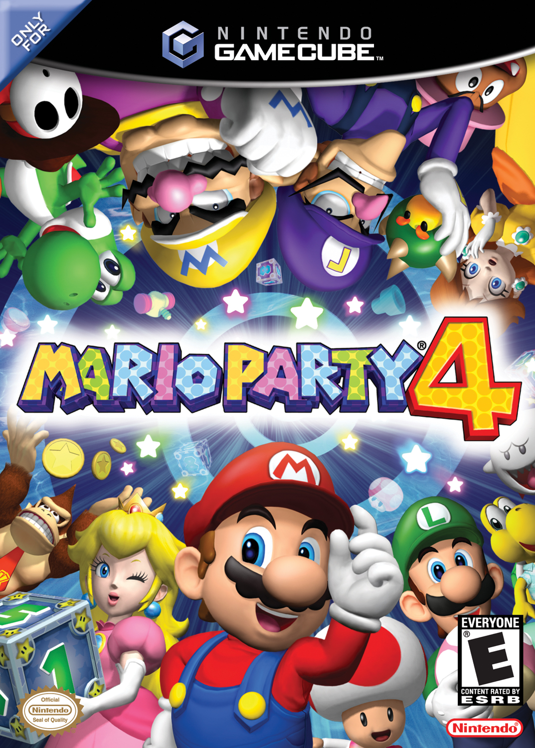 Mario Party 4 Mariowiki Fandom Powered By Wikia Luigi Circuit Wii Super Wiki The Encyclopedia North American Boxart For