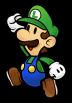 SSBB Sprite Paper Luigi-Trophäe