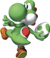 Yoshi Artwork - Super Mario 64 DS