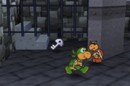 Green Koopa Bro. Setting A Trap