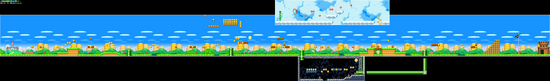New Super Mario Bros. World 1-1 Level Map
