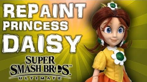 Custom PRINCESS DAISY doll repaint TUTORIAL Super Smash Bros Ultimate