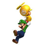 NSMBW Artwork Propeller-Gelber Toad & Luigi