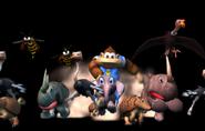 Kiddy on Ellie - Spaceworld 2001 Tech Demo - Donkey Kong Racing