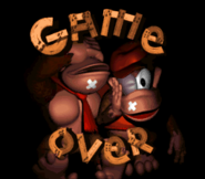 Game Over Screen - Donkey Kong Country SNES