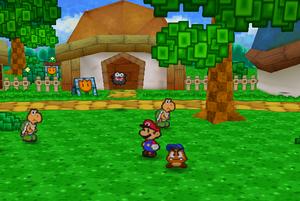 Mario In Koopa Village (Paper Mario)