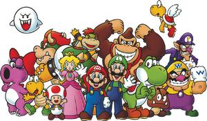 Club Nintendo Персонажи Постер
