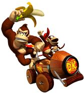 MKDD Artwork Donkey Kong & Diddy Kong