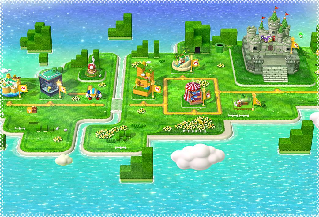Super Mario 3D World Map World 1 (Super Mario 3D World) | MarioWiki | FANDOM powered by Wikia