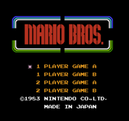 Mario Bros. - Title Screen