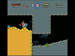 SMW Screenshot Donut-Ebene 2