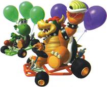 Art Bowser et Yoshi MK64
