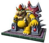 Bowser es su trono de Super Mario Galaxy 2