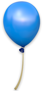 DKCTF Artwork Blauer Ballon