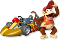 Artwork Diddy Kong MKW
