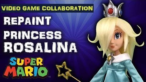 Custom PRINCESS ROSALINA doll repaint TUTORIAL Youtubers Collaboration Super Smash Bros Ultimate