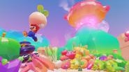 Mario portant un navet SMO