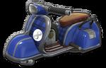 Corps Scooter bleu