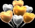 MKT Ballons cœurs brillants