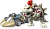 Artwork Bowser Skelet MKW