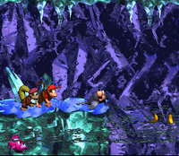 DKC2 Screenshot Clappers Höhle