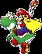Mario Cape et Yoshi - SMA2