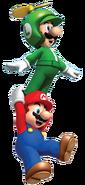 NSMBW Artwork Propeller-Luigi & Mario