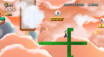 NSLU Screenshot Schlangenblock-Lauf über den Wolken