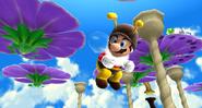 Mario abeille dans le jeu
