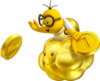 NSMB2 Artwork Goldener Lakitu
