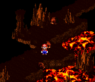 SMRPG Screenshot Fässer-Vulkan