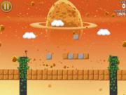 Angry Birds Space Niveau ressemblant à Super Mario Bros
