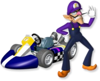 Artwork Waluigi MKW
