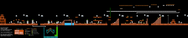 SMB World 3-1 NES level map