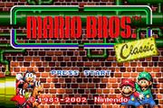 Mario Bros. GBA title screen