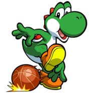 Mario basketball yoshi preview