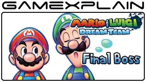 Mario & Luigi Dream Team - Final Boss Battle & Ending (Spoilers!)