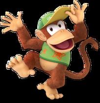 Art Diddy Kong vert Ultimate