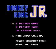 DK Jr. Jr. Math Lesson title screen