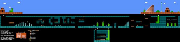 SMB World 1-2 NES level map