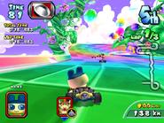 MKAGP2 Screenshot Mametchi Rainbow Coaster
